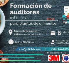 """AFI Chile, tiene el agrado de invitarlos a participar a su próximo Seminario: """"Formación de Auditores Internos para Plantas de Alimentos"""""""