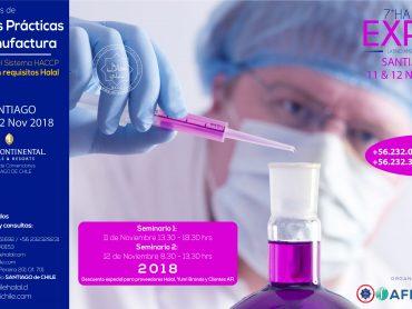 «Seminario de Buenas Practicas de Manufactura Cimiento del Sistema HACCP con mención requisitos Halal» Organizán AFI Chile y El Centro de Certificación Halal de Chile