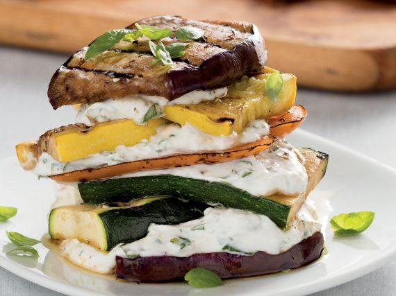 Sandwich Napoleón de verduras