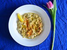 Baba Ganush o aperitivo libanés de berenjena