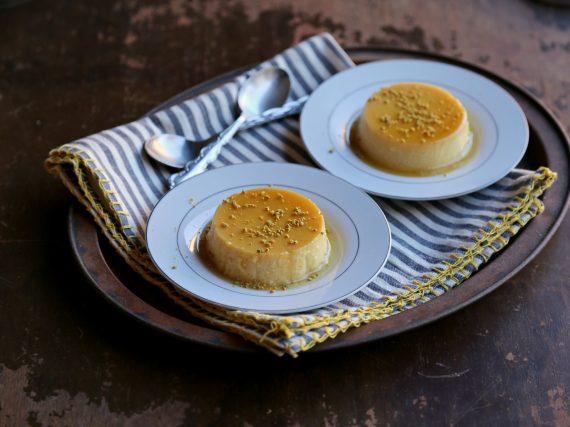 Flan de queso y toffee