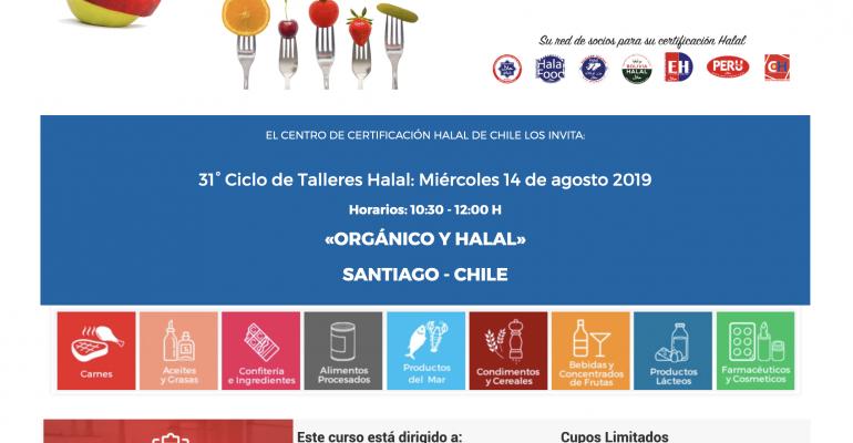 El Centro de Certificación Halal de Chile – CHILEHALAL, los invita a su 31° Ciclo de Talleres Halal