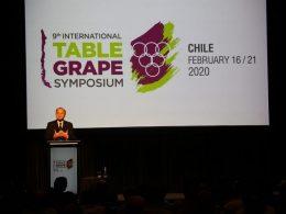 """Ministro Walker participa en IX Simposio Internacional de uva de mesa: """"El mejoramiento genético es fundamental para la industria quiere desarrollar nuevas variedades y mejorar producción"""